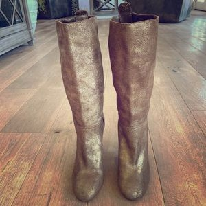 Chanel New gold boots. brand new.